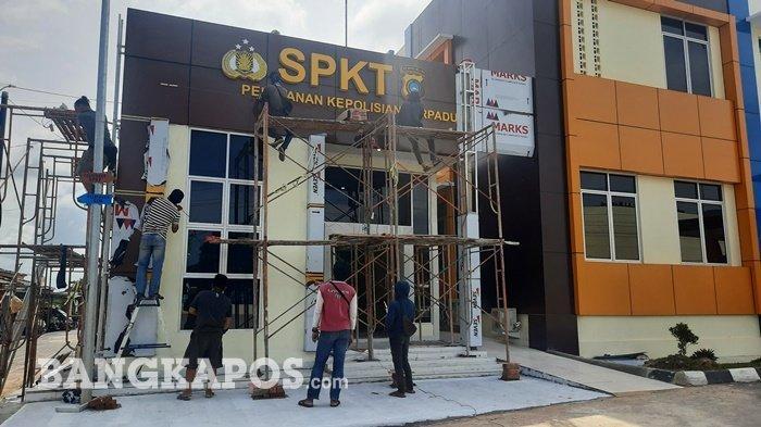 Gedung SPKT Polres Pangkalpinang Diresmikan Pertepatan dengan HUT Ke-76 Republik Indonesia
