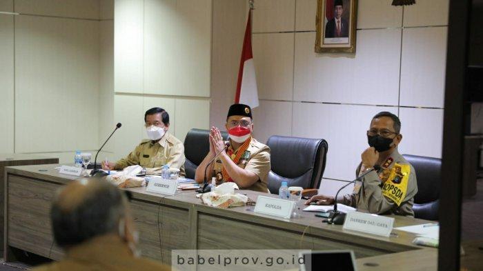 Erzaldi Rosman Bersama Forkopimda Bangka Belitung Bentuk Empat Satgas
