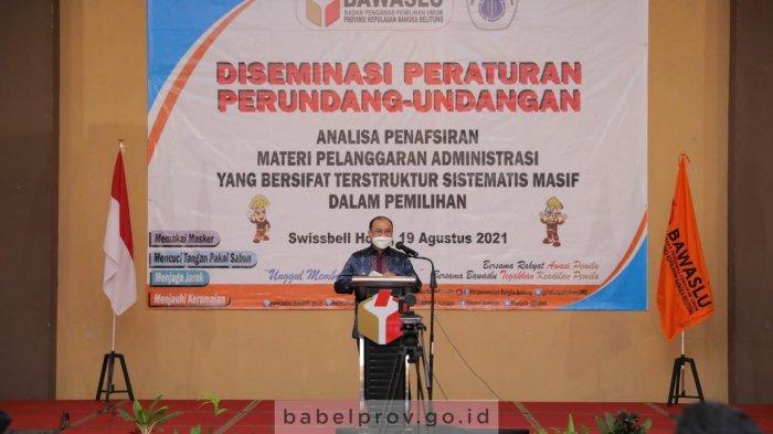Pesan Gubernur Bangka Belitung, KPU-Bawaslu Harus Kedepankan Prinsip Profesionalisme dan Integritas