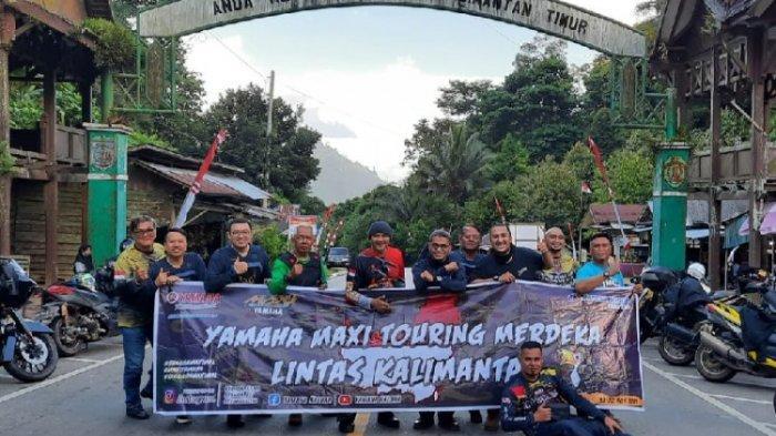 Touring Merdeka Komunitas MAXI Yamaha di Pontianak Tempuh Jarak 4.000 Kilometer