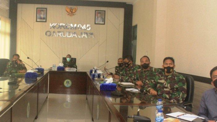 Danrem 045/Gaya Minta Jajarannya Kerja Keras Cegah Penyebaran Covid-19 di Bangka Belitung