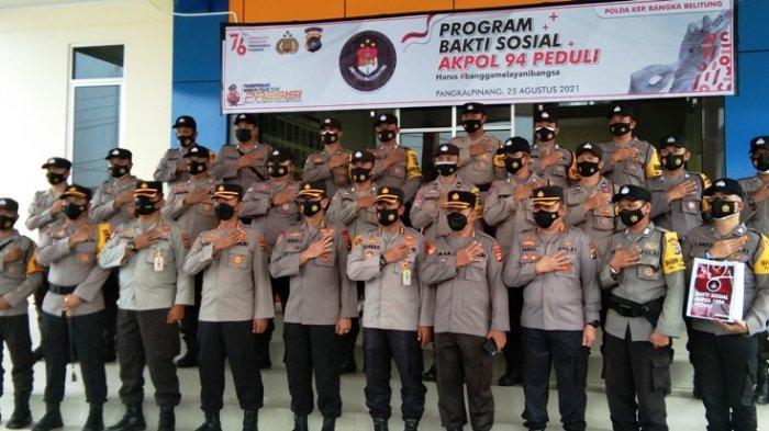 Akpol 94 Tunggal Panaluan Bagikan 1000 Voucher Belanja dan 1,5 Ton Sembako di Bangka Belitung