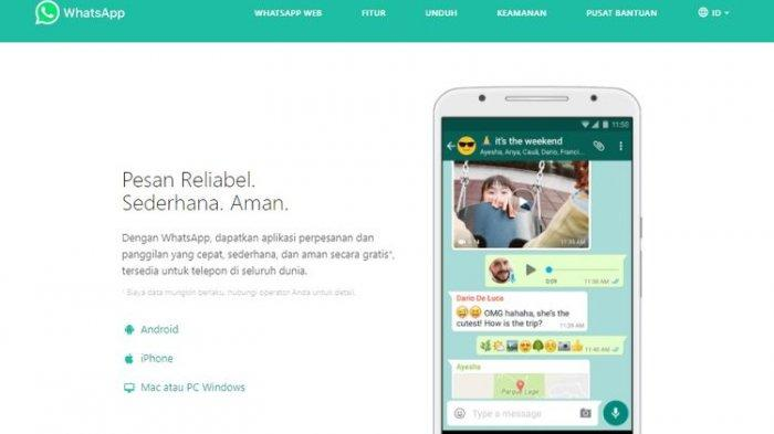 Cara memperbarui aplikasi WhatsApp lewat situs resmi WhatsApp (WhatsApp)