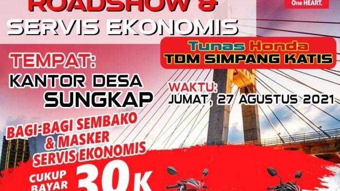 Roadshow Kemerdekaan di Desa Sungkap, Honda TDM Simpang Katis Gelar Ganti Oli Hanya  Rp 30.000