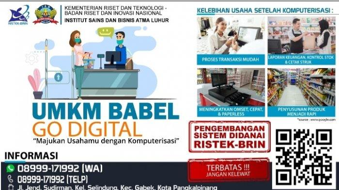Digitalisasi UMKM lewat program Pengabdian Masyarakat dari ISB Atma Luhur dan Pendanaan RISTEK-BRIN