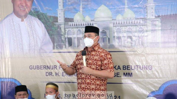Gubernur Bangka Belitung Selalu Berikan Pemahaman Bahaya Covid-19 dalam Setiap Kunjungan Kerja
