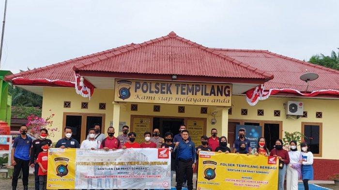 IMHB Bersama Jajaran Polsek Tempilang Berbagi Paket CSR