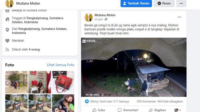 Bikin Geleng-geleng Kepala, Aksi Kawanan Pencuri di Toko Buah di Pangkalpinang Terekam CCTV