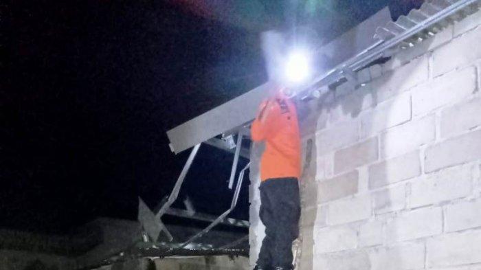 Angin Puting Beliung Hantam Lima Rumah di Sungailiat, Satu Rusak Parah