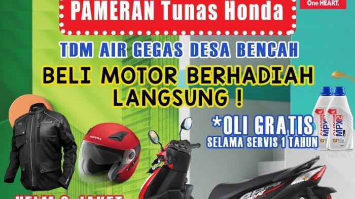 Buruan Kunjungi Pameran Honda TDM Airgegas, Dapatkan Hadiah Langsung Jaket/Helm Exclusive