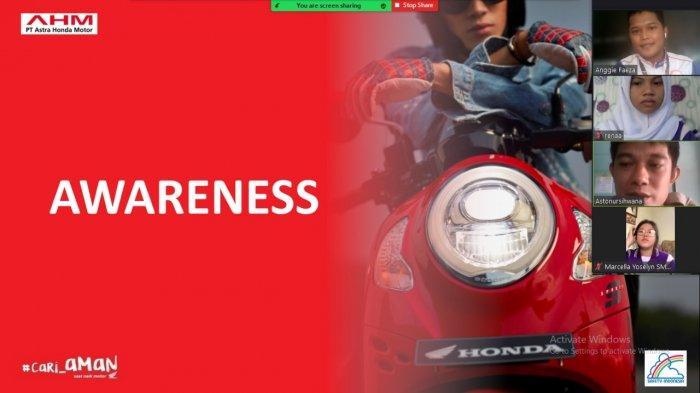Web Binar Safety Riding Honda Bersama SMKN 1 Pangkalpinang