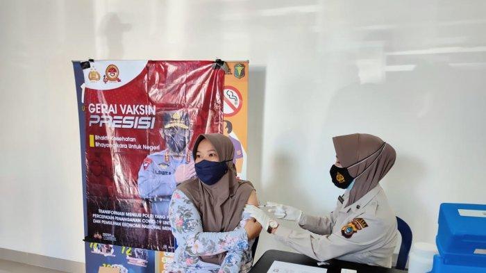 Bantu Percepatan Vaksinasi Covid-19, Urdokkes Polres Bangka Selatan Telah Vaksinasi 290 Warga