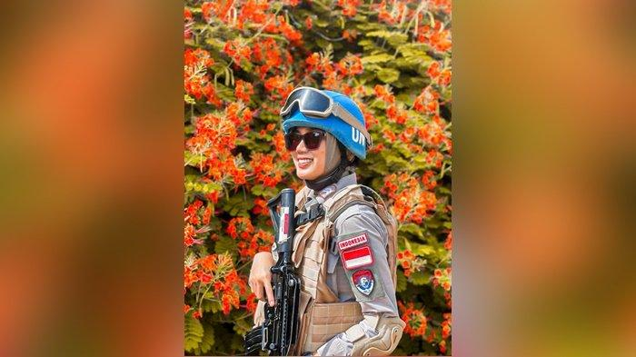 Briptu Era Septiana Polwan dari Polda Bangka Belitung yang menjalankan perdamaian dunia di bawah organisasi Internasional Perserikatan Bangsa Bangsa (PBB) atau United Nations (UN) di El Fasher, Sudan.