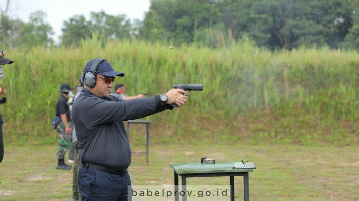 Gubernur Bangka Belitung Sabet Juara II Handgun Competition Babel 2021