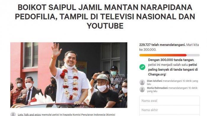 Petisi Boikot Dirinya Dekati 400 Ribu dan Fans Acara TV Ikut Menolak, Ini Reaksi Saipul Jamil