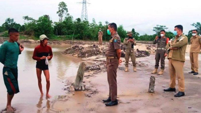 Satpol PP Bangka Tengah Ultimatum Penambang Ilegal di DAS Desa Nibung, Ancam Akan Tindak Tegas
