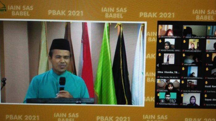 Wakil Rektor III IAIN SAS Bangka Belitung Tutup PBAK Virtual Secara Resmi