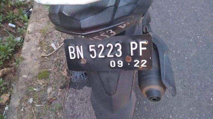 Kendaraan Nyang digunakan korban diduga kecelakaan tunggal di Jalan Kerabut, Kelurahan Jerambah Gantung, Kecamatan Gerunggang, Pangkalpinang, Selasa (7/9/2021).