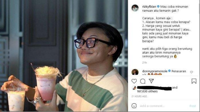 Wow, Minuman Racikan Rizky Febian Ditawar Rp400 Juta oleh Doni Salmanan, Siapa Dia?
