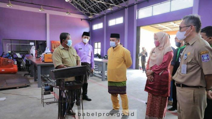 Gubernur Bangka Belitung Pantau Pelaksanaan Pembelajaran Tatap Muka Smansa Simpang Teritip