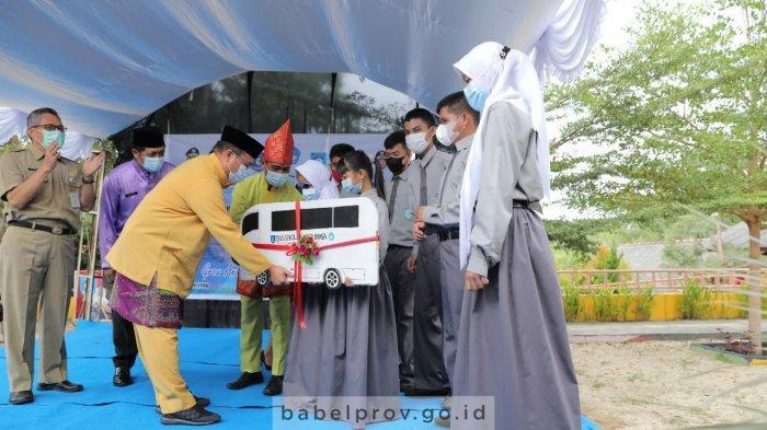 Wujud Perhatian Gubernur Bangka Belitung kepada Siswa Berkebutuhan Khusus, Berikan Mobil Operasional