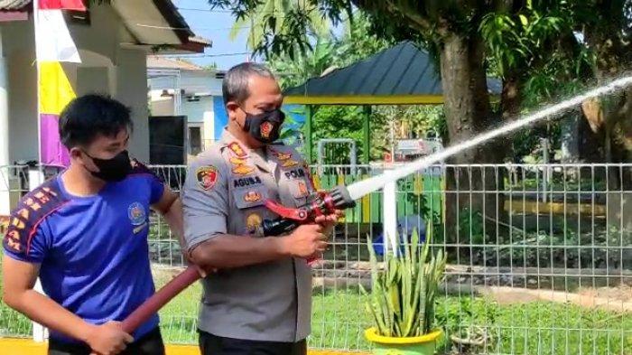 Antisipasi Kebakaran, Rutan Muntok dan Polres Bangka Barat Gelar Simulasi Pemadam Kebakaran