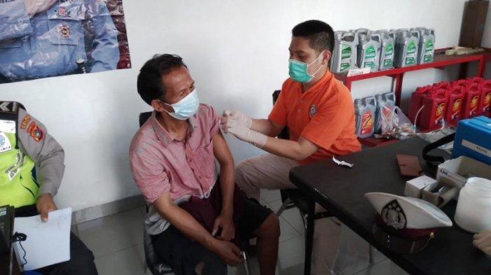 Satlantas Polres Bangka Selatan Gelar Vaksinasi Keliling di SPBU-SPBU