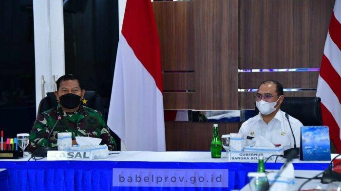 Gubernur Babel Datangi Mabes TNI AL, Sampaikan Terima Kasih KRI Semarang-594 Bantu Krisis Oksigen