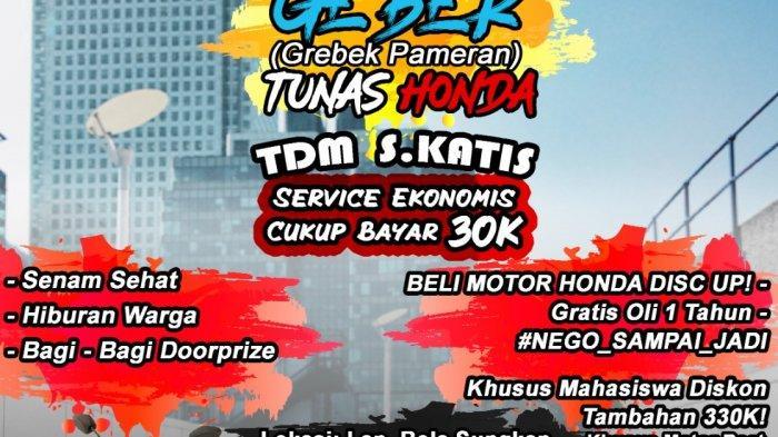 Meriahkan HUT RI ke-76 Honda TDM Simpang Katis Gelar GEBER (Grebek Pameran)