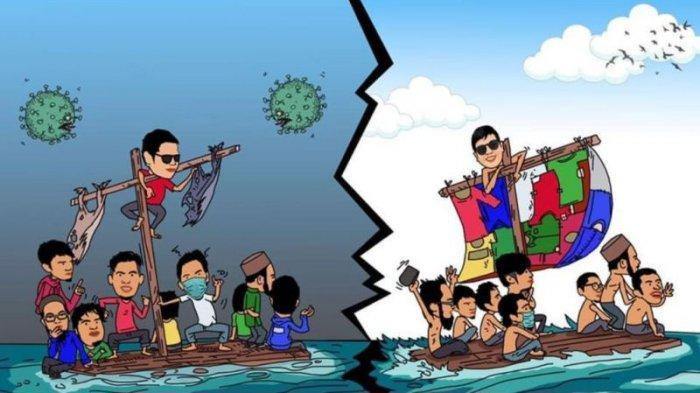 Karikatur Karya Novryadi, Wakil DPD Demokrat Babel Sabet Juara Nasional
