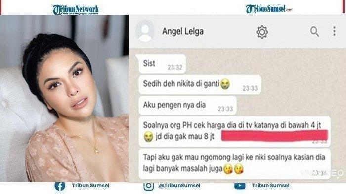 Isi Chat yang diduga Angel Lelga tersebar