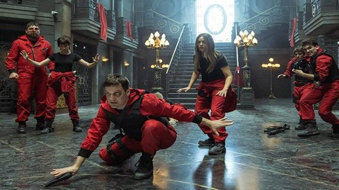 Serial Money Heist season 5 dapat disaksikan Jumat (3/9/21) di Netflix.(IMDb)