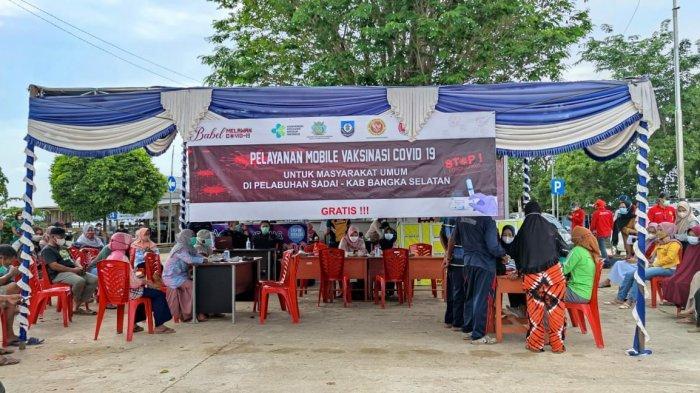 Percepat Angka Vaksinasi Covid-19, KKP dan BIN Berikan Dosis Vaksin Bagi Warga di Pelabuhan Sadai