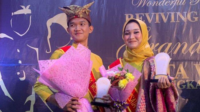 Raisa Meidyna (kanan) terpilih menjadi Winner Duta Wisata Pangkalpinang 2021