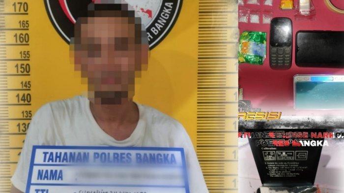 Tangkap Bandar Narkoba, Sat Narkoba Polres Bangka Geledah 4 Lokasi Temukan 7 Paket Sabu