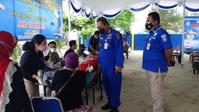 Direktorat Polairud Polda Kepulauan Bangka Belitung Targetkan 3000 Vaksin 1 Bulan