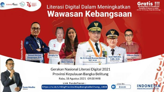 Literasi Digital Bangka Tengah Bahas Cara Agar Positif, Kreatif dan Aman di Internet