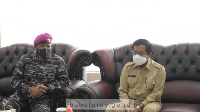 Mengawali Tugas, Laksda TNI AL Arsyad Abdullah Tinjau Pangkalan TNI AL di Babel