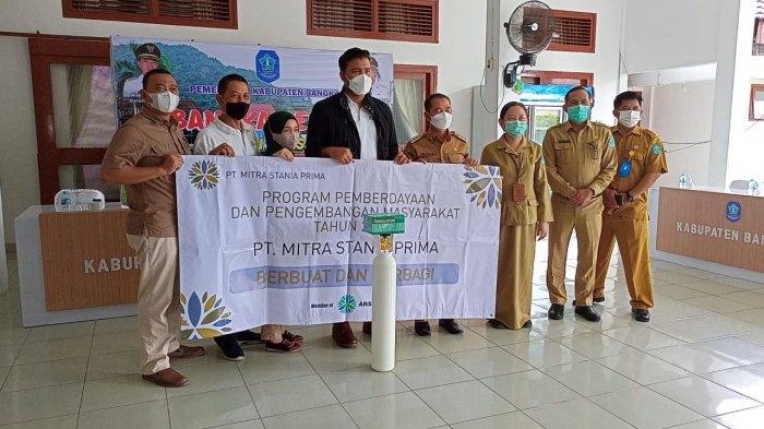 Pemkab Bangka Terima Bantuan Oksigen Dari PT MSP