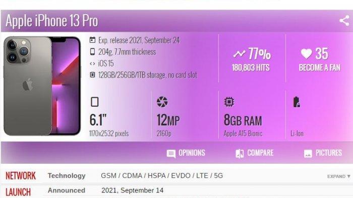 Harganya Rp14,2 Juta, Inilah Spesifikasi iPhone 13 Pro yang Baru Saja Diluncurkan