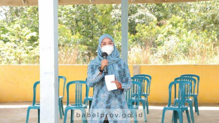 Melati Erzaldi Kunjungi Desa Sungai Padang, Pantau Lomba PHBS Tingkat Provinsi Tahun 2021