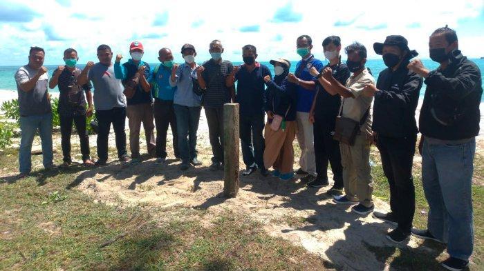 Sepakat! Kelurahan Matras dan Sinar Jaya Jelutung Pasang Patok Tapal Batas