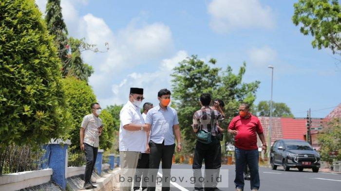 Gubernur Inspeksi Jalan Provinsi di Belitung Timur, Gubernur Temukan Ruas Jalan Bergelombang
