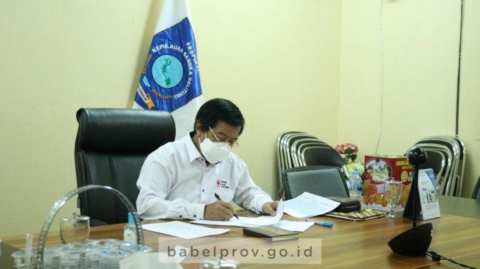 Agenda Wakil Gubernur Babel Hari Ini, Menghadiri Kegiatan Penganugerahkan Perangkat Daerah