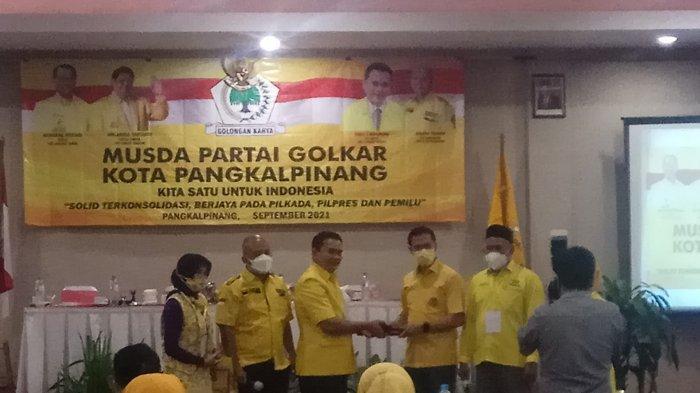 Zufriady Resmi Jabat Ketua DPD Golkar Pangkalpinang, Gandeng Kaum Muda Berorganisasi