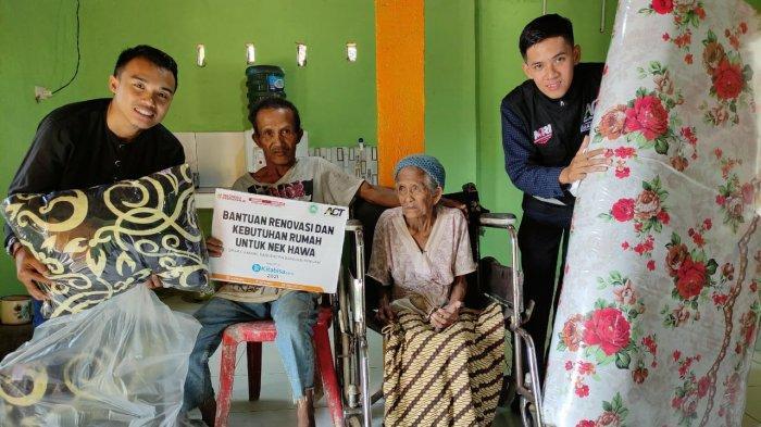 ACT Bangka Renovasi Rumah Nek Hawa dan Bantu Perabotan
