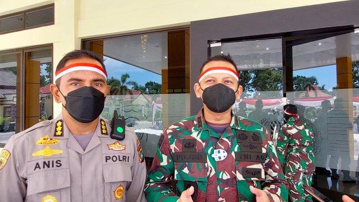 Dandim) 0413/Bangka, Kolonel Inf. Pujud Sudarmanto didampingi Kepala Biro SDM Polda Kepulauan Bangka Belitung, Kombes Pol Anissullah Ridha.