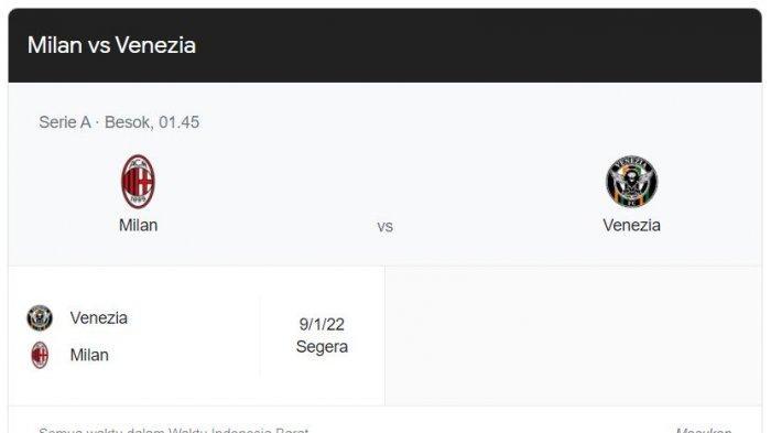 Prediksi AC Milan Vs Venezia, Rotasi Pemain Dilakukan Meski Ibrahimovic dan Giroud Absen