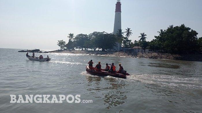 Tim gabungan melanjutkan proses pencarian satu ABK KMP Musi 1 di Perairan Tanjungkalian Muntok.