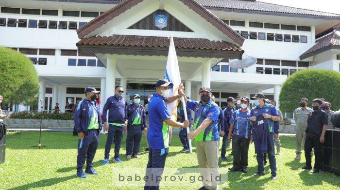 Lepas Kontingen PON XX Papua, Gubernur Bangka Belitung: Selamat Berjuang, Bawa Pulang Medali